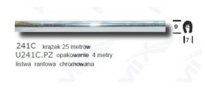 Listwa rantowa chromowana 241C